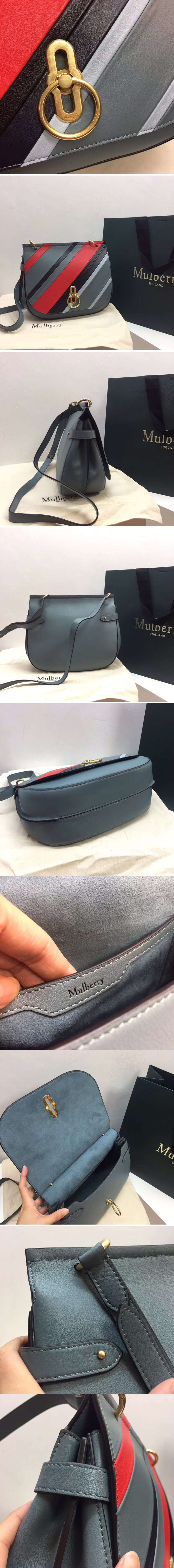 Replica Mulberry Amberley Satchel Medium Bags Original Leather Grey/Red/Black/Blue
