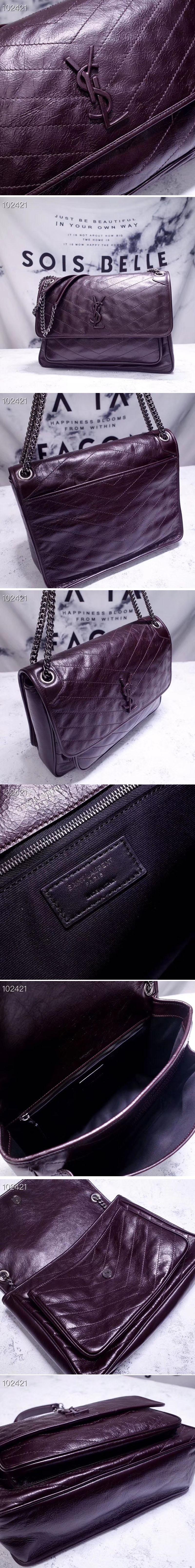 Ysl Saint Laurent Niki Large Bag Vintage Leather 498883