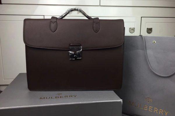 Replica Mens Mulberry Briefcase Bags 186495 Coffee