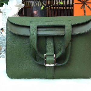 Replica Hermes Halzan 31 Bags Original Taurillon Leather Jasper