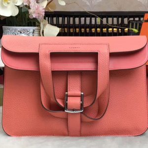 Replica Hermes Halzan 31 Bags Original Taurillon Leather Pink