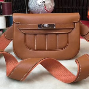 Replica Hermes Berline 20cm Original Swift Leather Bags Brown