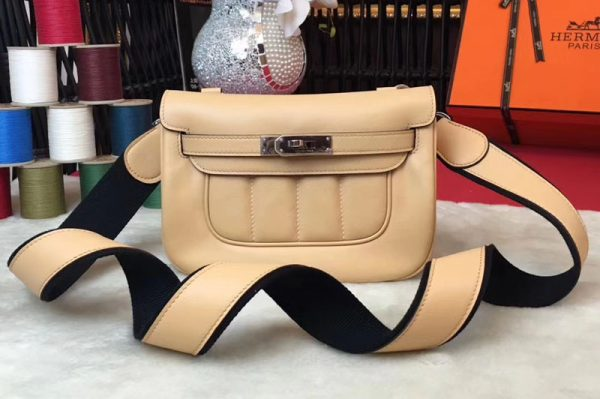 Replica Hermes Berline 20cm Original Swift Leather Bags Apricot