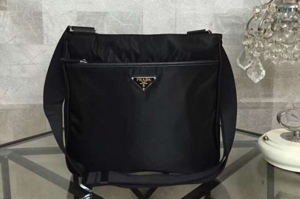 Replica Prada 2VH269 messenger nylon bag Black