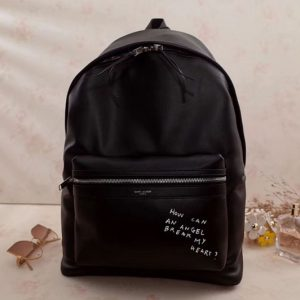 Replica YSL Yves Saint Laurent Classic City Backpack 454318 Black Leather
