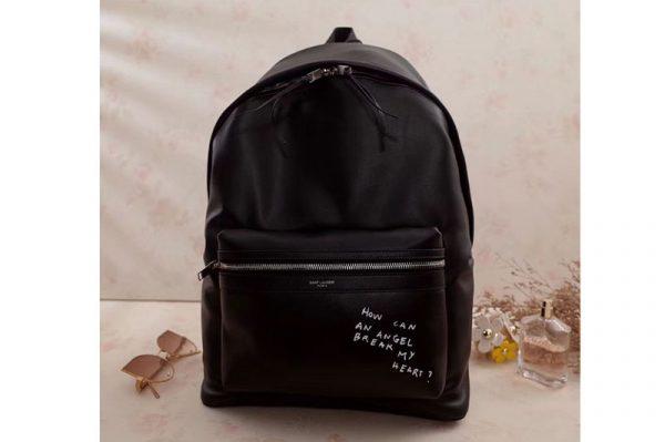 Replica YSL Yves Saint Laurent Classic City Backpack 454318 Black Leather