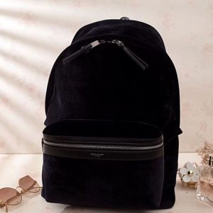 YSL Yves Saint Laurent Classic City Backpack 462807 Black Suede Leather