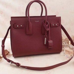Replica Saint Laurent Sac De Jour Souple Bag Grained Leather 464960 Dark Red
