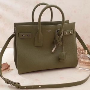 Replica Saint Laurent Sac De Jour Souple Bag Grained Leather 464960 Green