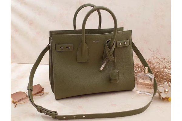 Replica Saint Laurent Sac De Jour Souple Bag Grained Leather 464960 Green