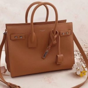 Replica Saint Laurent Sac De Jour Souple Bag Grained Leather 464960 Tan