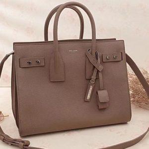 Replica Saint Laurent Sac De Jour Souple Bag Grained Leather 464960 Beige