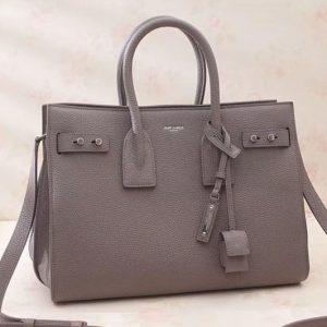 Replica Saint Laurent Sac De Jour Souple Bag Grained Leather 464960 Grey