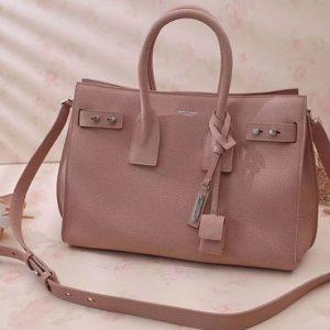 Replica Saint Laurent Sac De Jour Souple Bag Grained Leather 464960 Pink
