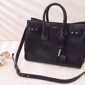 Replica Saint Laurent Sac De Jour Souple Bag Grained Leather 464960 Black