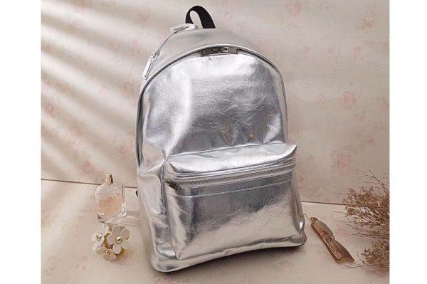 Replica Saint Laurent City Print Backpack Bag 465448 Silver