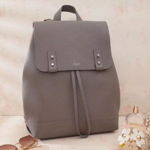 Replica Saint Laurent Sac De Jour Backpack Grained Leather 480585 Grey