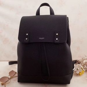 Replica Saint Laurent Sac De Jour Backpack Grained Leather 480585 Black