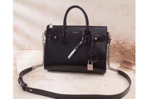 Replica Saint Laurent Sac De Jour Souple Duffle Bag in Moroder Leather 491715