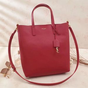 Replica Saint Laurent Shopping Toy North/South Bag 498612 Red