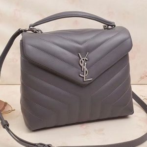 Replica Saint Laurent Loulou Chain Bag in Y Matelasse Leather 529735 Grey