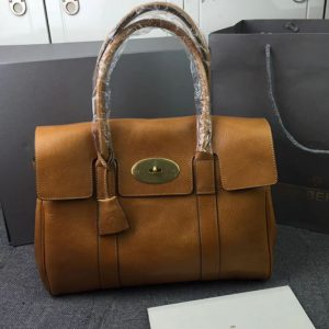 Replica Mulberry Bayswater 36cm Natural Leather Bags Oak