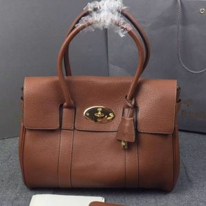 Replica Mulberry Bayswater 36cm Natural Leather Bags Brown