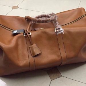 Replica Mulberry Clipper Natural Leather Travel Bags Oak