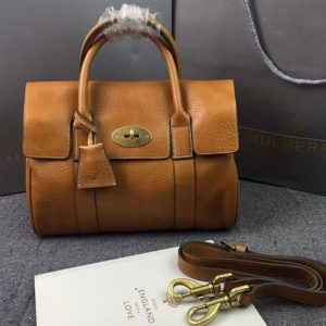 Replica Mulberry Bayswater 27cm Natural Leather Bags Oak