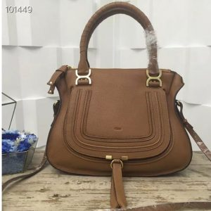 Replica Chloe Marcie Medium Satchel Bags 0036S Brown