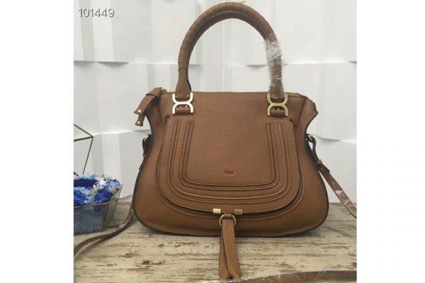 Replica Chloe Marcie Medium Satchel Bags 0036S Brown