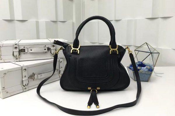 Replica Chloe Marcie Satchel Bags 0860 Black