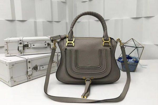 Replica Chloe Marcie Satchel Bags 0860 Gray