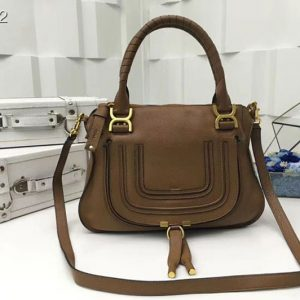 Replica Chloe Marcie Satchel Bags 0860 Brown