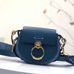 Replica Chloe Tess Small Leather Shoulder Bags Blue