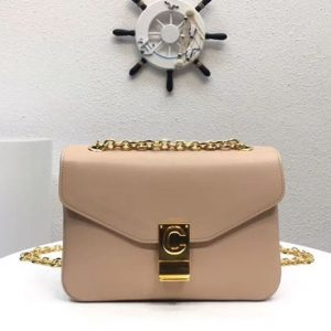 Replica Celine Classic Box Shoulder Bag Calf Leather 8013 Apricot