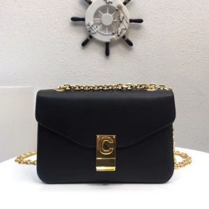Replica Celine Classic Box Shoulder Bag Calf Leather 8013 Black