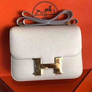 Replica Hermes Constance 24cm Bag Original Epsom Leather Gold Craie