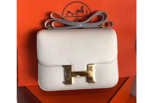 Replica Hermes Constance 24cm Bag Original Epsom Leather Gold Craie