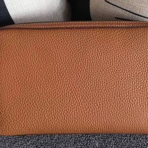 Replica Mens Hermes 24cm Clutch Original Swift Leather Bags Tan
