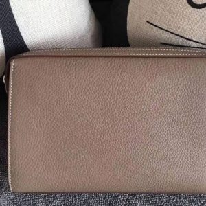 Replica Mens Hermes 24cm Clutch Original Swift Leather Bags Gray