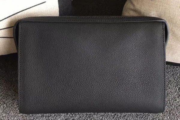 Replica Mens Hermes 24cm Clutch Original Swift Leather Bags Black