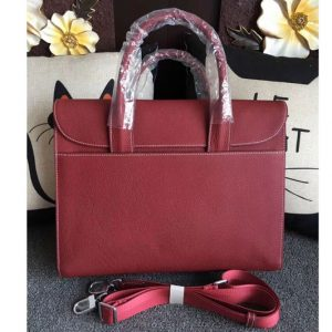 Replica Mens Hermes 38cm Messenger Bags Original Togo Leather Wine