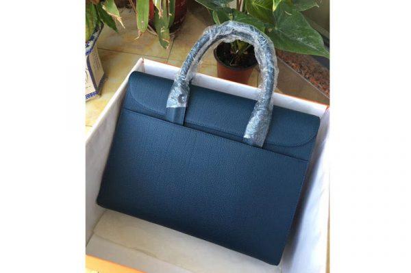 Replica Mens Hermes 38cm Messenger Bags Original Togo Leather Blue