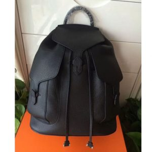 Replica Hermes Original Togo Leather Backpack Black