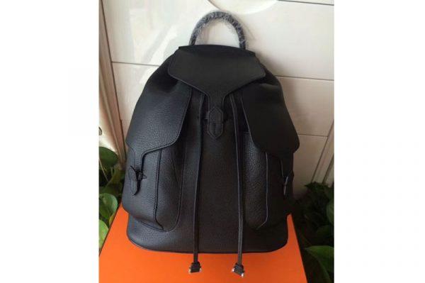 Replica Hermes Original Togo Leather Backpack Black
