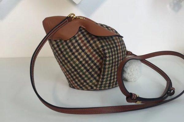 Replica Loewe Bunny Mini Leather Shoulder Bags Green