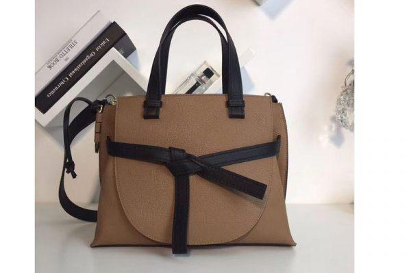 Replica Loewe Gate Top Handle Small Bags Original Leather Buff Color