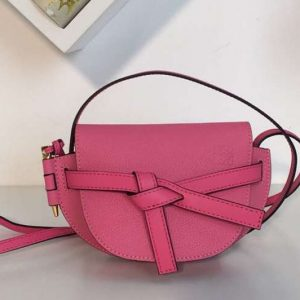 Replica Loewe Mini Gate Bags Original Leather Rose