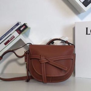 Replica Loewe Gate Small Bags Original Leather Brown